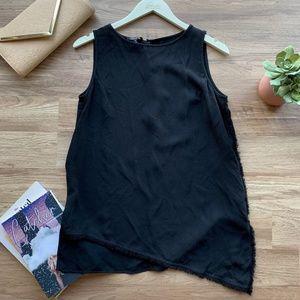 Lafayette 148 Black Silk Sleeveless Top